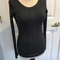 Express Gray Women's Crew Neck Pullover Sweater Size Medium Photo