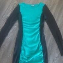 Express Green and Black Tunic Dress Size Xs Photo