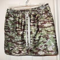 Express Green Camo Camouflage Skirt Size M Photo