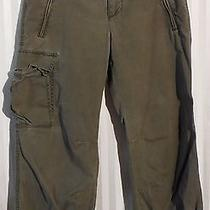 Express Green Cropped Pants Size 5/6 Photo
