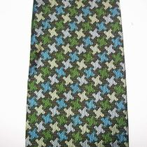 Express Green Geometric Neck Tie Mens Silk 57.5 X 3   Photo