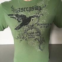 Express Green Graphic T Shirt - Medium Photo