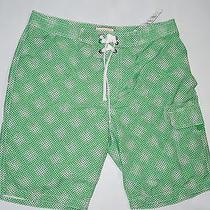 Express Green Print Board Short Swimsuit Shorts Size  Large Photo