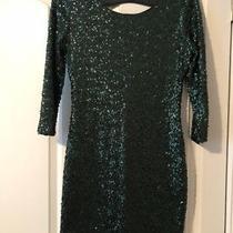 Express Green Sequin Cocktail Dress Photo
