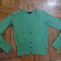 Express Green v-Neck Sweater Size M Photo