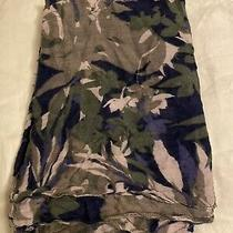 Express Grey Blue Olive Green Plant Standard Scarf Photo