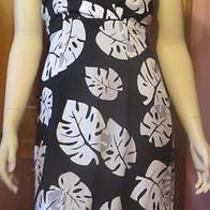 Express Halter Dress - Short - Black/white Print - Size 1/2 - Euc Photo