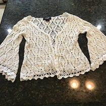 Express Handknit White Sweater Women's Xs Photo