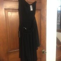 Express Hankerchief Hemline Dress - Black - Size 6 - Brand New Photo