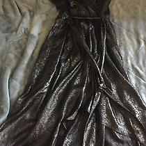 Express- High Low Black Shimmer Maxi - Size Large Photo