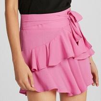 Express High Waisted Ruffle Mini Skirt Size 6 Photo