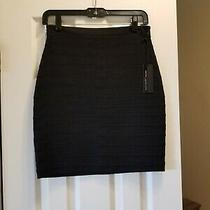 Express High Wasted Mini Skirt Size 2 Black  Photo