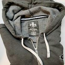 Express Hoodie / Zip-Up Grey Sweatshirt Xl Photo