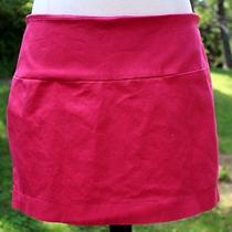 Express Hot Pink Mini Skirt Size 10 Stretchy Photo