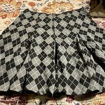 Express Houndstooth Pattern Short Pleated Skirt Size 3/4 Photo