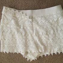 Express Ivory Crochet Lace Shorts Size Medium M Euc  Photo