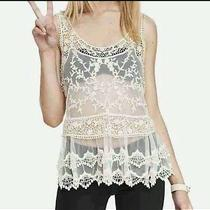 Express Ivory Lace Top Small Photo
