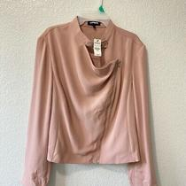Express Jacket Blazer  Zipper Blush Pink Xl Photo