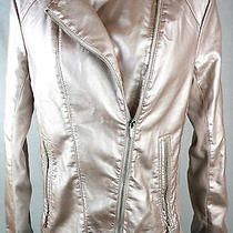 Express Jacket Size Medium Light Pink Shine Blazer Coat Top Womens 6 7 M New Photo