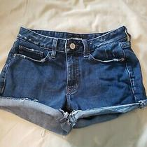 Express Jean Shorts Shortie Relaxed Low Rise Size 4  Photo