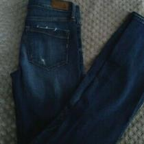 Express Jeans Barely Boot Mid Rise Ripped Size 4 R Photo