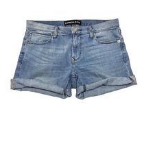 Express Jeans Cut-Off Distressed Denim Jean Shorts Women's Size 6 Photo