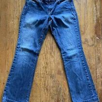Express Jeans Dark Wash Distressed Bootcut Size 4r Low Rise Womens Free Shipping Photo