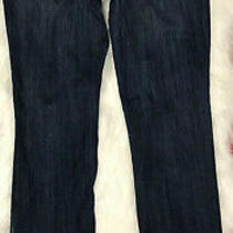 Express Jeans Destroyed Jeans Faded Blue Barely Boot Stella Size 8 Photo