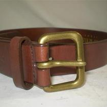 Express Jeans Harness Strap Belt Leather Brown M Waist 28 Photo