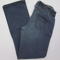 Express Jeans Juniors Size 1/2 Button Fly Straight Leg Cotton Blend Denim 28x29 Photo