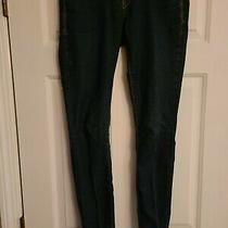 Express Jeans Legging Mid Rise Dark Wash Blue Denim Jeans Women's Size 2r Photo