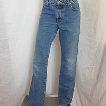 Express Jeans Low Rise Flare Cut Denim Blue Jeans Womens Size 7 / 8 L Used Photo