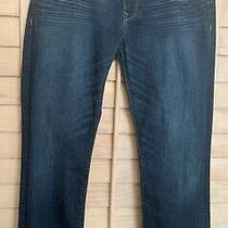 Express Jeans Low Rise Sz 8 Fringe Hem 30 Inseam Boot Cut Photo