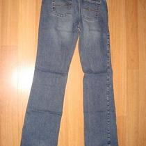 Express Jeans Low Stretch Slung Flare Jeans Size 7 / 8 Photo