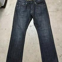 Express Jeans Mens 30x30 Blue Denim Jeans Dark Wash Slim Stretch Low Rise Boot Photo