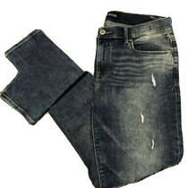 Express Jeans Mia Mid Rise Legging Distressed Women's Size 12r (33x30) Photo