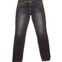 Express Jeans Size 2 Stella - Low Rise Stretch Super Soft Dark Blue Photo