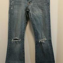 Express Jeans Size 4 Regular Distressed Knees Womens Juniors Stella Boot Leg Photo