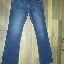 Express Jeans Sz 2 Reg Women's Blue Boot Cut Low Rise Pull on Jeans Photo