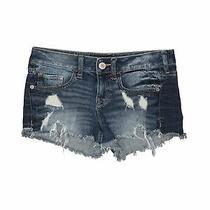 Express Jeans Women Blue Denim Shorts 0 Photo