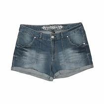 Express Jeans Women Blue Denim Shorts 14 Photo