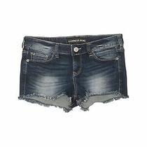 Express Jeans Women Blue Denim Shorts 2 Photo