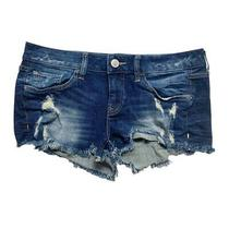 Express Jeans Women Shorts Cut Off Distressed Ripped Denim Size 8 Photo