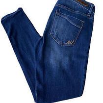 Express Jeans Womens 6r Mia Mid-Rise Legging Dark Wash Faded Photo