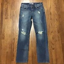 Express Jeans Womens Boyfriend Style  Distressed Jeans Size 0 Photo