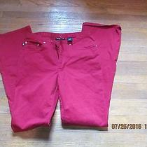 Express Jeansstretch Red Size 1/2 Inseam 31 Photo