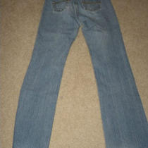 Express Junior Womens Low Rise Flare Light Blue Jeans Size 3/4 Photo