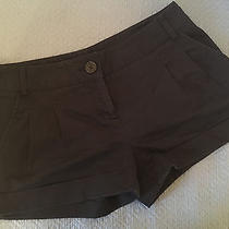 Express Juniors Cotton Blend Black Shorts Size 0 Photo
