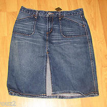 Express Juniors Size 7/8 Blue Denim Skirt 100% Cotton Photo