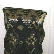 Express Juniors Small Petite Sleeveless Shimmery Sequence Tube Top Blouse Wxs2 Photo